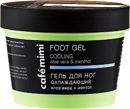 Парфюмерия и Козметика Охлаждащ гел за крака с мента и алое вера - Cafe Mimi Foot Gel Cooling Aloe Vera & Menthol