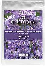 "Парфюмерия и Козметика Маска за околоочна зона ""Розмарин"" - Orientana Eye Silk Pad Rosemary"