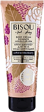 Парфюмерия и Козметика Блестящ моделиращ крем за тяло - Bisou Collagen&Blackberry Body Cream Shimmer