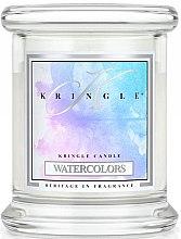Парфюми, Парфюмерия, козметика Ароматна свещ в бурканче - Kringle Candle Watercolors