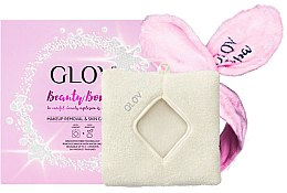 Парфюми, Парфюмерия, козметика Комплект почистваща кърпа за лице и лента за коса - Glov Spa Beauty Bomb Set (glove/1pcs + headband/1pcs)