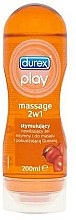 Парфюми, Парфюмерия, козметика Интимен лубрикант с масажен апликатор с аромат на гуарана, 200 мл - Durex Play Massage 2 in 1 Sensual