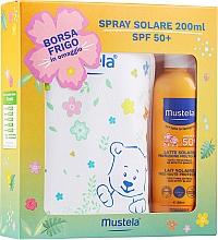 Парфюмерия и Козметика Комплект - Mustela Bebe Solare (слънцезащитен спрей/200ml + козм. чанта)