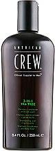 """Парфюми, Парфюмерия, козметика Продукт за грижа на косата и тялото 3 в 1 """"Чаено дърво"""" - American Crew Tea Tree 3-in-1 Shampoo, Conditioner and Body Wash"""