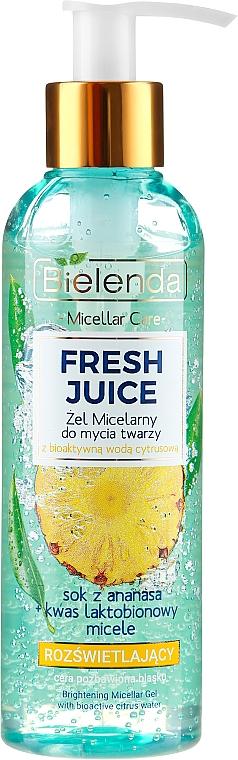 Мицеларен гел за сияйна кожа - Bielenda Fresh Juice Micellar Gel Pineapple