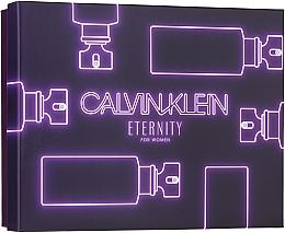 Парфюмерия и Козметика Calvin Klein Eternity For Woman - Комплект (парф. вода/100ml + парф. вода/10ml + лос. за тяло/100ml)