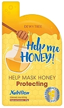 Парфюмерия и Козметика Защитна маска за лице с мед - Dewytree Help Me Honey! Protecting Mask