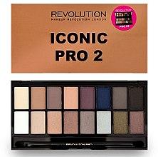 Парфюми, Парфюмерия, козметика Палитра сенки за очи, 16 цвята - Makeup Revolution Salvation Eyeshadow Palette Iconic Pro 2