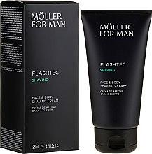Парфюми, Парфюмерия, козметика Крем за бръснене - Anne Moller Man Flashtec Shaving Face And Body Shaving Cream