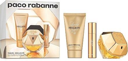 Paco Rabanne Lady Million - Комплект (edp/80 + b/lot/75ml + edp/10ml) — снимка N1
