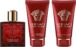 Парфюмерия и Козметика Versace Eros Flame - Комплект (парф. вода/50ml + душ гел/50ml + афтър. балсам/50ml)