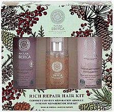 Парфюмерия и Козметика Комплект за коса - Natura Siberica Natural & Organic Rich Repair Hair Kit (шампоан/250ml + балсам/250ml + гел/125ml)