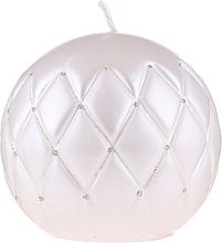 "Парфюмерия и Козметика Декоративна свещ ""Лакирана топка"" бяла, 10см - Artman Florence"