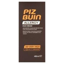 Парфюми, Парфюмерия, козметика Слънцезащитен крем за лице - Piz Buin Allergy Face Cream SPF50
