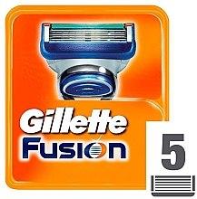Сменяеми ножчета за бръснене, 5 бр. - Gillette Fusion — снимка N2