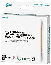 Парфюмерия и Козметика Бамбукови клечки за уши - The Humble Co. Cotton Swabs White