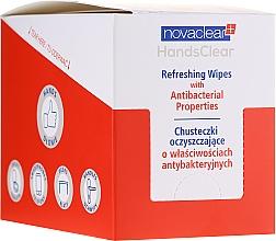 Парфюмерия и Козметика Почистващи мокри кърпички с антибактериални свойства - Novaclear Hands Clear Refreshing Wipe With Antibacterial Properties
