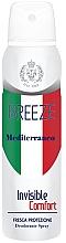 Парфюмерия и Козметика Спрей дезодорант - Breeze Mediterranean Invisible Comfort Deodorant Spray