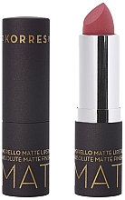 Парфюмерия и Козметика Матово червило за устни - Korres Morello Matte Lipstick