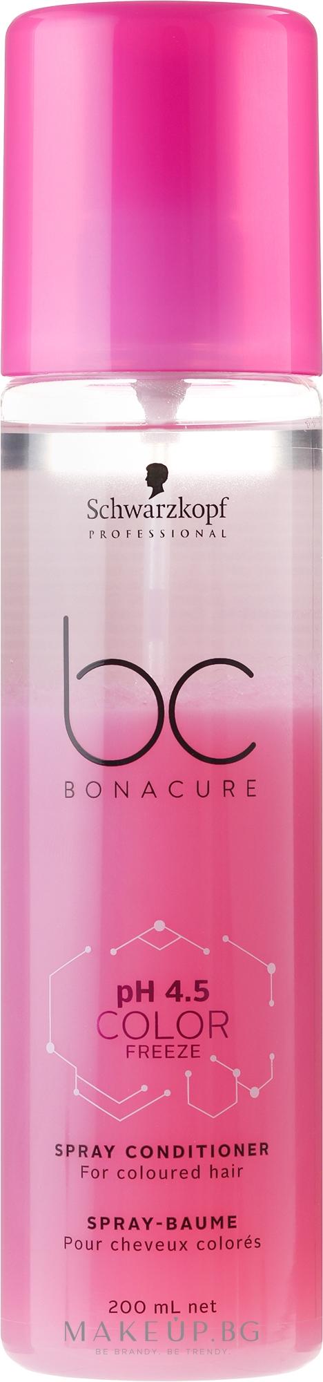 Спрей-балсам за боядисана коса - Schwarzkopf Professional BC Bonacure Color Freeze Spray — снимка 200 ml