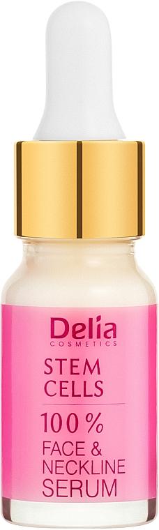 Интензивен подмладяващ серум против бръчки за лице и шия със стволови клетки - Delia Face Care Stem Sells Face Neckline Intensive Serum