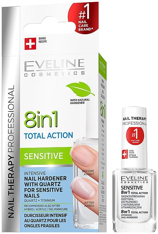 Универсален лак за нокти - Eveline Cosmetics Nail Therapy Professional Sensitive