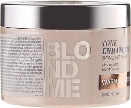Парфюми, Парфюмерия, козметика Възстановяваща маска за освежаване на русите оттенъци - Schwarzkopf Professional Blondme Tone Enhancing Bonding Mask Warm Blondes