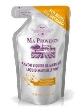 """Парфюмерия и Козметика Течен марсилски сапун в икономичната опаковка """" Портокал"""" - Ma Provence Liquid Marseille Soap Orange"""