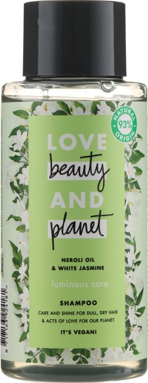 Шампоан за коса с масло от нероли и бял жасмин - Love Beauty&Planet Neroli Oil & White Jasmine Shampoo