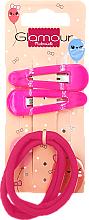 Парфюмерия и Козметика Фиби и ластици за коса, 417620, розови - Glamour