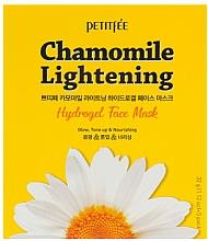 Парфюмерия и Козметика Изсветляваща хидрогел маска за лице - Petitfee&Koelf Chamomile Lightening Hydrogel Face Mask