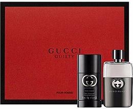 Парфюми, Парфюмерия, козметика Gucci Guilty Pour Homme - Комплект (edt/50ml + deo/st/75ml)