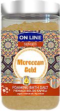Парфюмерия и Козметика Соли за вана - On Line Senses Bath Salt Moroccan Gold