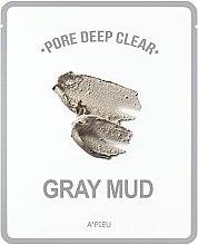 Парфюми, Парфюмерия, козметика Памучна маска за лице със сива глина за дълбоко почистване на пори - A'pieu Pore Deep Clear Gray Mud Mask