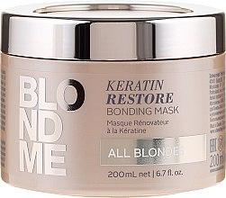 Парфюми, Парфюмерия, козметика Възстановяваща кератинова маска за руса коса - Schwarzkopf Professional Blondme Keratin Restore Bonding Mask