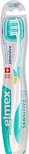 Парфюмерия и Козметика Мека четка за зъби, тюркоазено-жълта - Elmex Sensitive Toothbrush Extra Soft