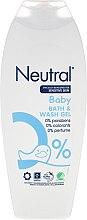 Парфюми, Парфюмерия, козметика Детски гел за вана - Neutral Baby Bath & Wash Gel