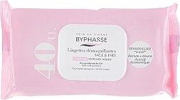 Парфюмерия и Козметика Почистващи кърпички за лице, 40 бр - Byphasse Make-up Remover Wipes Milk Proteins All Skin Types