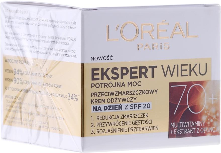 Подхранващ дневен крем за лице против бръчки - L'Oreal Paris Age Specialist Day Cream 70+