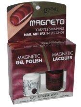 Парфюми, Парфюмерия, козметика Комплект лак за нокти - Gelish Electric Metal Lover Magneto Combo Kit (nail/15ml + nail/10ml)