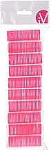 Парфюмерия и Козметика Велкро ролки за коса, 499600, розови - Inter-Vion