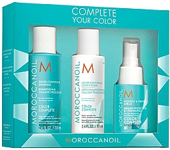 Парфюмерия и Козметика Комплект за коса - Moroccanoil Travel Kit Color Complete (шамп./70ml + балсам/70ml + спрей/50ml)