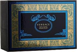 Versace Pour Homme Dylan Blue - Комплект (тоал. вода/100ml + тоал. вода/10ml + козм. чанта) — снимка N1