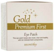 Парфюмерия и Козметика Пачове за околоочен контур - Secret Key Gold Premium First Eye Patch