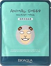 """Парфюми, Парфюмерия, козметика Маска за лице от плат """"Овца"""" - Bioaqua Animal Sheep Nourish Mask"""