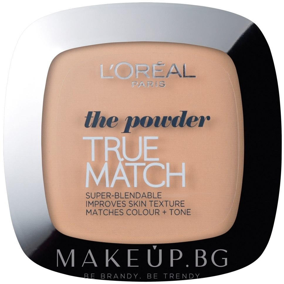 Компактна пудра - L'Oreal Paris True Match Super Blendable Powder — снимка 3.D/3.W - Golden Beige