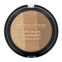 Парфюми, Парфюмерия, козметика Бронзираща озаряваща пудра - Makeup Revolution Ultra Bronze, Shimmer and Highlight