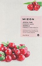 Парфюмерия и Козметика Памучна маска за лице с екстракт от Ацерола - Mizon Joyful Time Essence Mask Acerola
