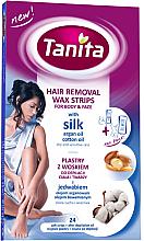 Парфюми, Парфюмерия, козметика Депилиращи восъчни ленти за лице и тяло с коприна - Tanita Wax Strips Silk Argan & Cotton Oil