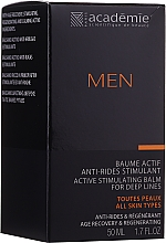 Парфюмерия и Козметика Активен стимулиращ крем-балсам за след бръснене - Academie Men Active Stimulating Balm for Deep Lines